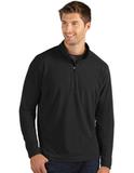Antigua Glacier Men's 1/4 Zip Pullover Black Thumbnail