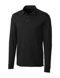 Cutter & Buck Men's Pima Cotton Long Sleeve Belfair Polo Shirt Black Thumbnail