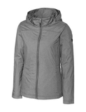 Women's Cutter & Buck Panoramic Packable Wind Jacket Black Thumbnail