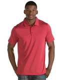Antigua Quest Polo Shirt Dark Red with White Thumbnail