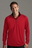 Greg Norman Play Dry -zip Performance Mock Cardinal Thumbnail
