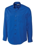 Men's Cutter & Buck Big & Tall Long Sleeve Epic Easy Care Fine Twill French Blue Thumbnail