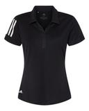 Women's Floating 3-Stripes Sport Shirt Black with White Thumbnail
