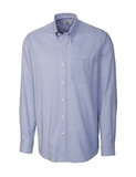 Men's Long Sleeve Big and Tall Epic Easy Care Tattersall French Blue Thumbnail