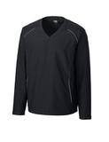 Men's Cutter & Buck Big & Tall WeatherTec Beacon V-Neck Jacket Black Thumbnail