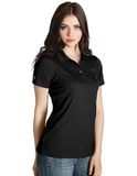 Women's Inspire Polo Black Thumbnail