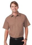 Peach Touch Twill Shirts-Woven Shirts Tan Thumbnail