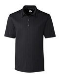 Cutter & Buck Men's DryTec Hamden Jacquard Polo Shirt Black Thumbnail