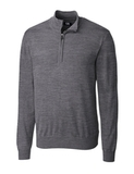 Men's Cutter & Buck Big & Tall Douglas Half Zip Midgrey Heather Thumbnail