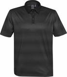 Men's Vibe Performance Polo Carbon with Black Thumbnail