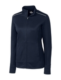Women's Cutter & Buck Weathertec Ridge Full-Zip Jacket Navy Blue Thumbnail