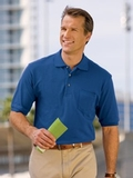 Pique Knit Polo Shirt With Pocket Thumbnail