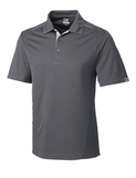 Cutter & Buck Men's DryTec Foss Hybrid Polo Shirt Elemental Gray Thumbnail