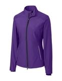 Women's Cutter & Buck WeatherTec Beacon Full Zip Jacket College Purple Thumbnail