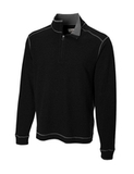 Men's Cutter & Buck Big & Tall Overtime Pullover Black Thumbnail