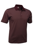 Men's Mini Stripe Polo Maroon with Charcoal Thumbnail