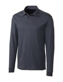Cutter & Buck Men's Pima Cotton Long Sleeve Belfair Polo Shirt Onyx Thumbnail