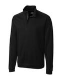 Men's Cutter & Buck Pima Cotton Decatur Pullover Black Thumbnail