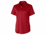 Ladies Prospect Textured Stretch Polo Cardinal Red Thumbnail