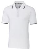 Advantage Tipped Polo Big and Tall White Thumbnail