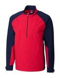 Men's Cutter & Buck WeatherTec Summit Half Zip Ringside with Navy Blue (RSDNV) Thumbnail