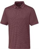 Forge Polo Pencil Stripe Big and Tall Bordeaux Thumbnail