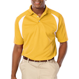Men's Raglan Wicking Polo Yellow Thumbnail