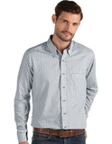 Antigua Men's Structure Dress Shirt Steel with White Thumbnail