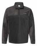 Columbia - Steens Mountain™ Half-Snap Pullover Charcoal Heather with Shark Thumbnail