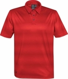 Men's Vibe Performance Polo Bright Red with Dark Red Thumbnail