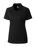 Women's Cutter & Buck DryTec Lacey Polo Shirt Black Thumbnail