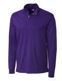 Cutter & Buck Men's Pima Cotton Long Sleeve Belfair Half-Zip Mock Turtleneck College Purple Thumbnail