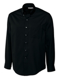Men's Cutter & Buck Big & Tall Long Sleeve Epic Easy Care Fine Twill Black Thumbnail