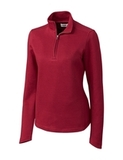 Women's Cutter & Buck Pima Cotton Decatur Pullover Cardinal Red Thumbnail
