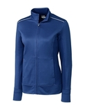 Women's Cutter & Buck Weathertec Ridge Full-Zip Jacket Tour Blue Thumbnail