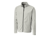 Clique by C & B Men's Summit Full Zip Microfleece Jacket Silver Thumbnail