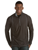 Antigua Men's Tempo Pullover Black with Steel Thumbnail