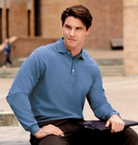 Rapid Dry Long Sleeve Polo Shirt Thumbnail