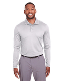 Under Armour Mens Corporate Long-Sleeve Performance Polo White Thumbnail