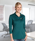 Women's Cutter & Buck DryTec 3/4 Sleeve Chelan Polo Shirt Thumbnail