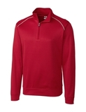Cutter & Buck Men's Weathertec Big & Tall Ridge Pullover Cardinal Red Thumbnail