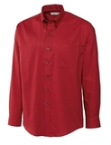 Men's Cutter & Buck L/S Epic Easy Care Nailshead Cardinal Red Thumbnail