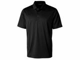 Men's Prospect Textured Stretch Polo Black Thumbnail