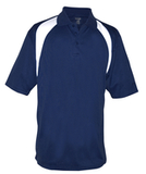 Reebok Color Block Athletic Golf Shirt Navy with White Thumbnail