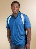 Reebok Color Block Athletic Golf Shirt Royal with White Thumbnail