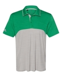 Adidas - Colorblocked Mélange Sport Shirt Team Green Melange with Mid Grey Melange Thumbnail
