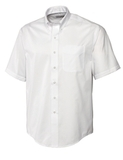 Men's Cutter & Buck Big & Tall Short Sleeve Epic Easy Care Fine Twill White Thumbnail