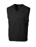 Men's Cutter & Buck Big & Tall Douglas V-neck Vest Black Thumbnail