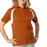 Women's Raglan Wicking Polo Burnt Orange Thumbnail
