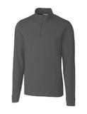Cutter & Buck Big and Tall Long Sleeve Advantage Half-Zip Mock Turtleneck Elemental Grey Thumbnail